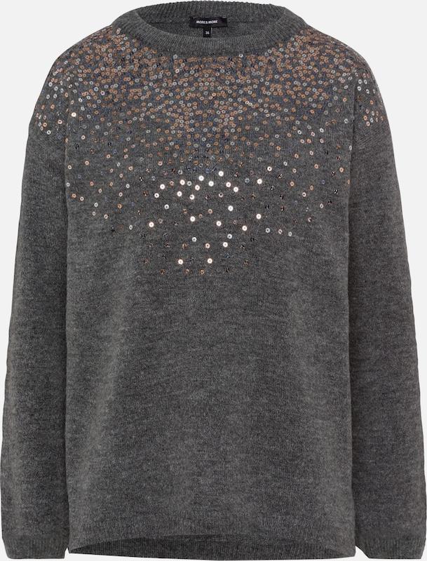 MORE & MORE Pullover in graumeliert   mischfarben  Große Preissenkung