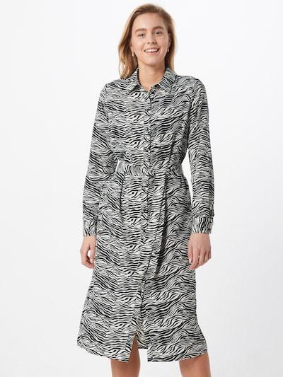 VERO MODA Sukienka koszulowa 'VMTRUDY LS SHIRT DRESS LCS' w kolorze czarny / białym, Podgląd na modelu(-ce)