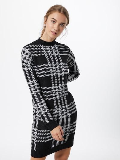 Noisy may Kleid 'SQUARE' in schwarz / weiß, Modelansicht