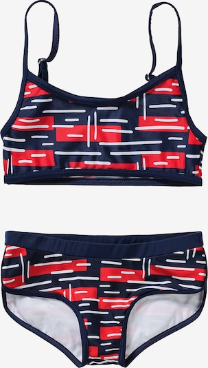 FASHY Bikini in nachtblau / rot / weiß, Produktansicht