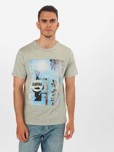 Only & Sons T-Shirt 'ONSILO REG SS TEE' en bleu / gris: Vue de face