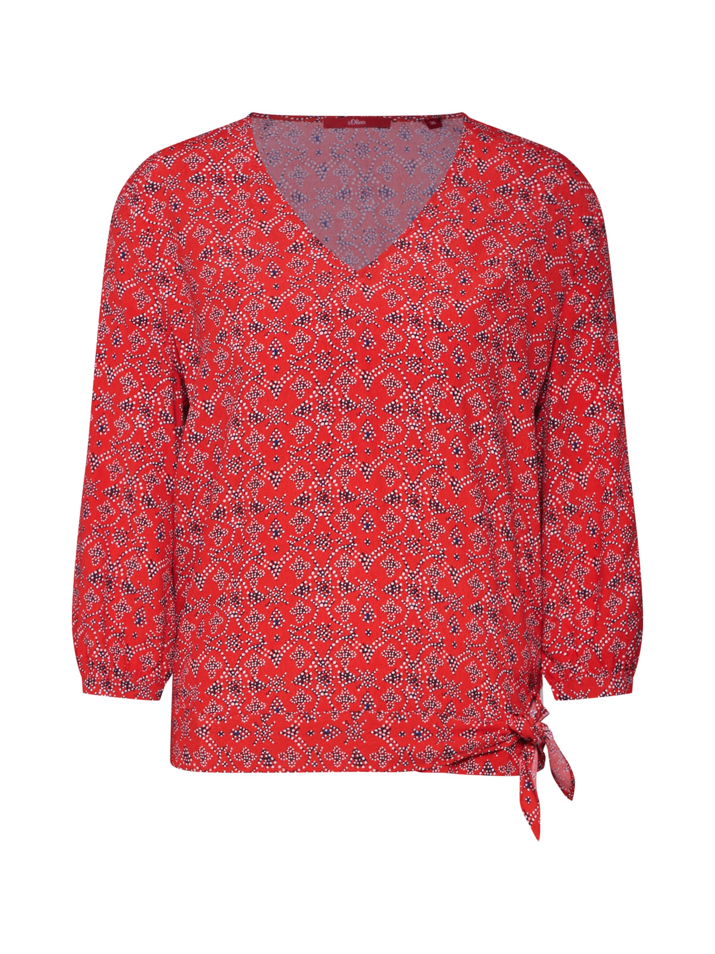 Blusenshirt Red S In oliver Label MischfarbenRot rdeCxBoW