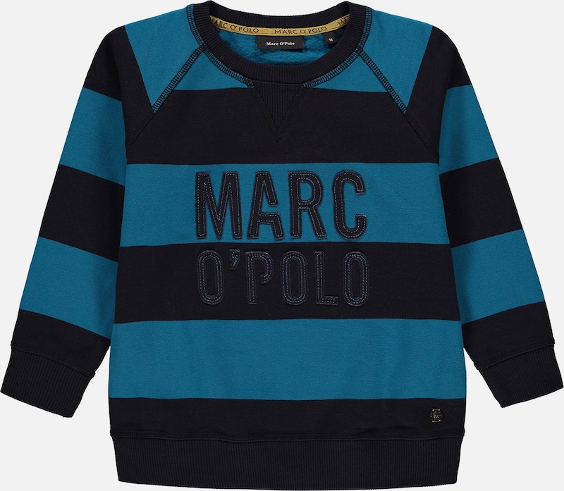 Marc O'Polo Junior Sweatshirt in petrol / schwarz, Produktansicht