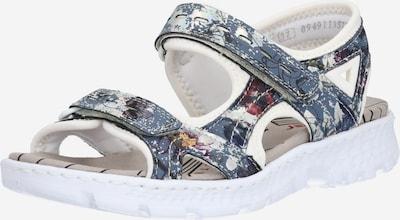 RIEKER Sandales de randonnée en bleu foncé / mélange de couleurs / blanc, Vue avec produit