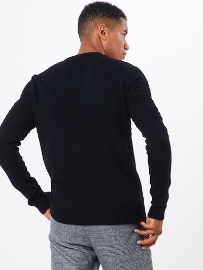 Pulover 'onsHOWARD 7 SOFT CREW NECK KNIT' Only & Sons pe negru: Privire spate