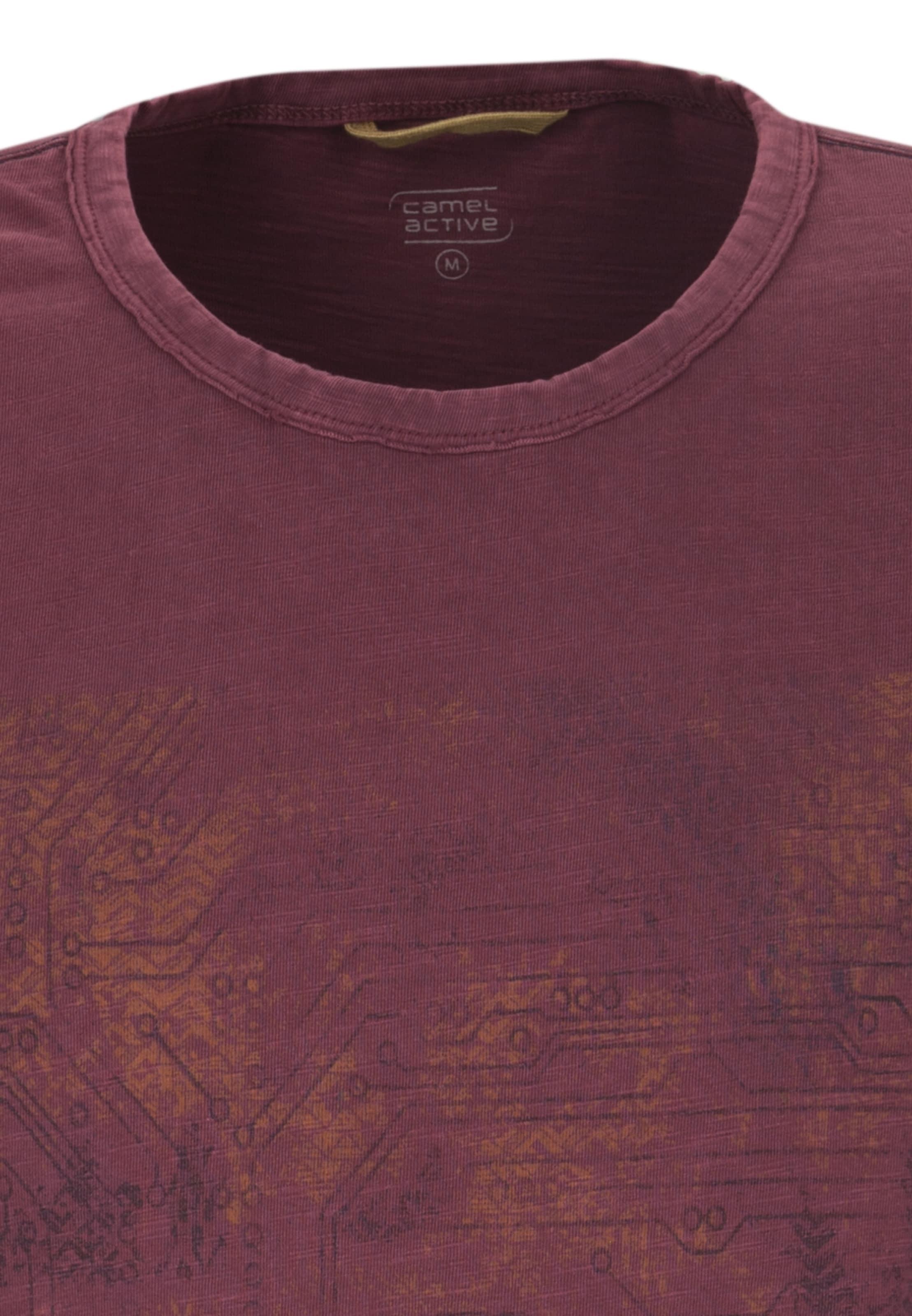 Foncé shirt Active En T CuivreRouge Camel nyvN8wOm0