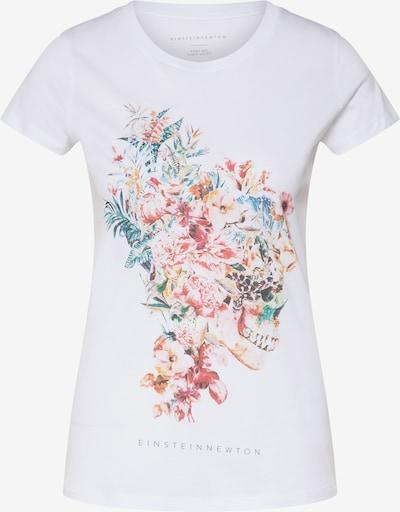 EINSTEIN & NEWTON T-Shirt 'Totenkopf' in mischfarben / weiß, Produktansicht