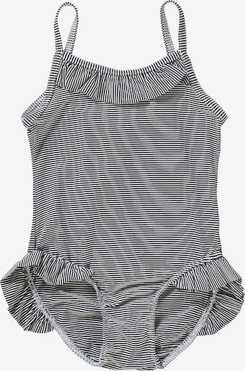 PETIT BATEAU Badeanzug in schwarz / weiß, Produktansicht