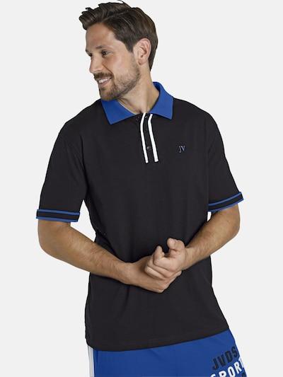 Jan Vanderstorm T-Shirt 'Isfried' en bleu roi / noir: Vue de face