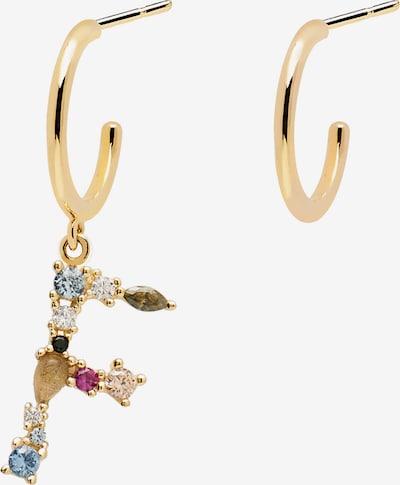 P D PAOLA Boucles d'oreilles 'Letter F' en or / mélange de couleurs, Vue avec produit