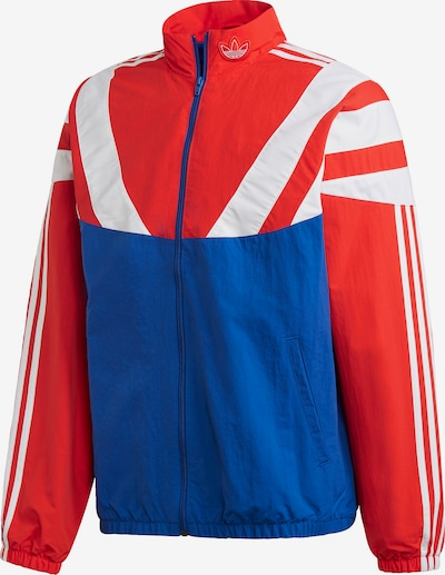 ADIDAS ORIGINALS Trainingsjacke in weinrot weiß | ABOUT YOU