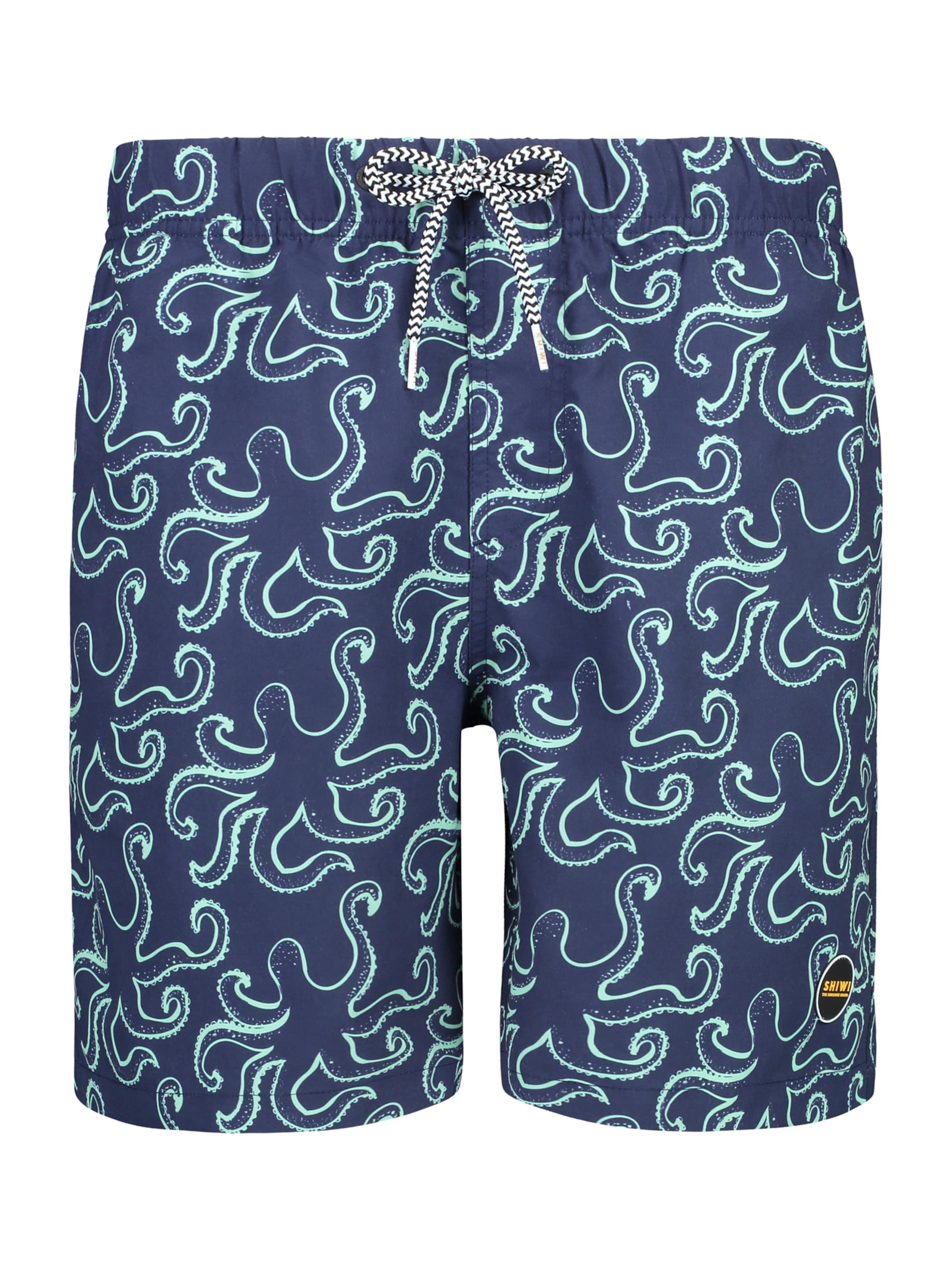 Shiwi Boardshorts 'Octopussy' i marinblå