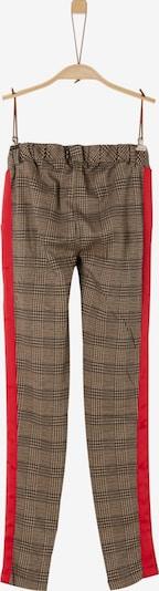 s.Oliver Junior Leggings in hellbraun / rot / schwarz, Produktansicht