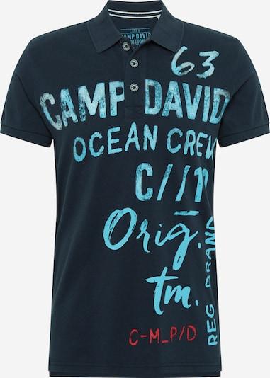 CAMP DAVID Poloshirt in navy / azur, Produktansicht