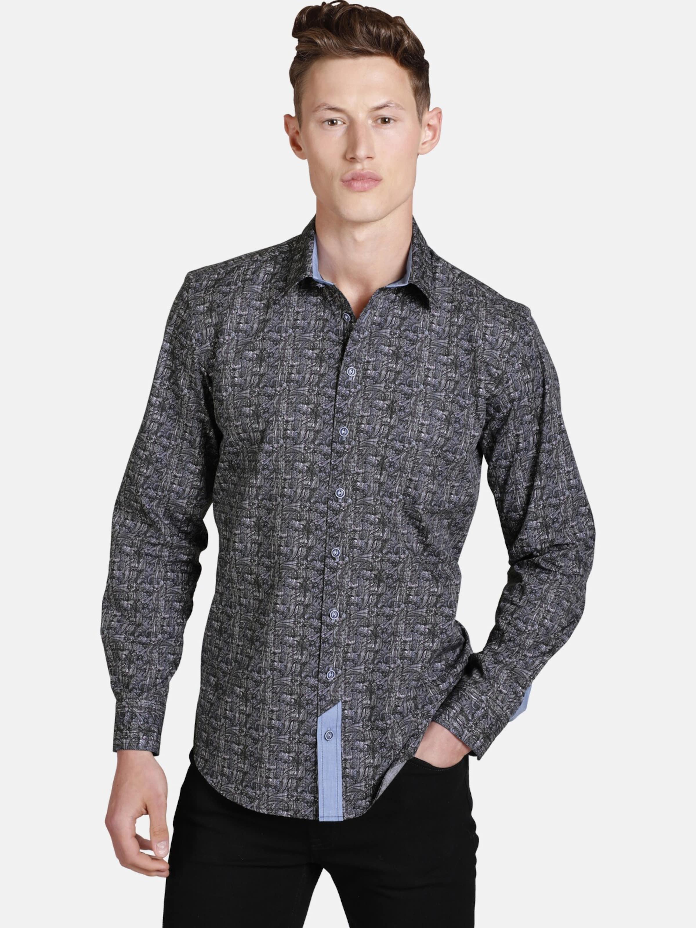 Shirtmaster Hemd ' Wildpaisley ' in mischfarben Kentkragen S04901-0001