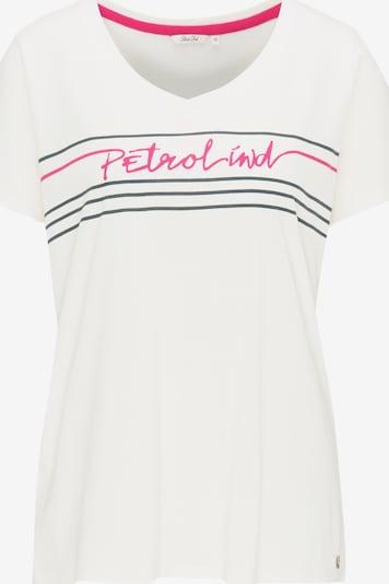 Petrol Industries T-Shirt in grau / pink / weiß, Produktansicht