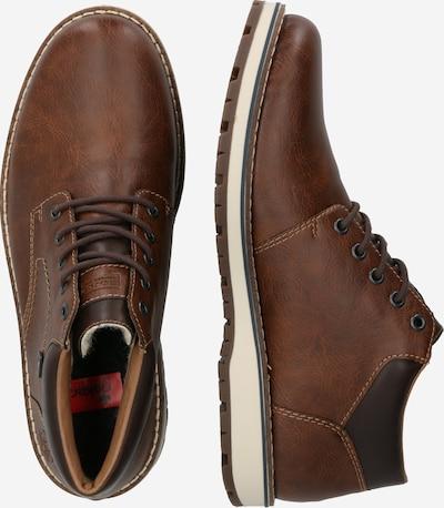 RIEKER Čevlji na vezalke | rjava barva: Pogled od strani