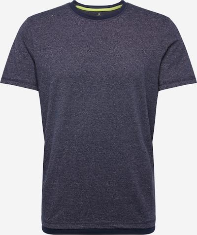 TOM TAILOR Shirt 'T-Shirt with underlayer' in navy, Produktansicht