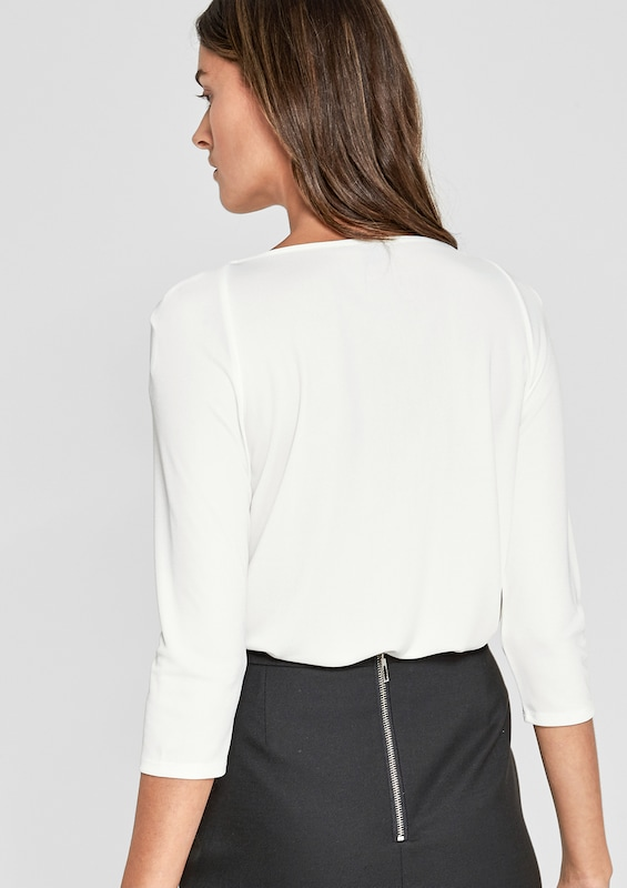 s.Oliver BLACK LABEL Shirt mit Falten-Detail