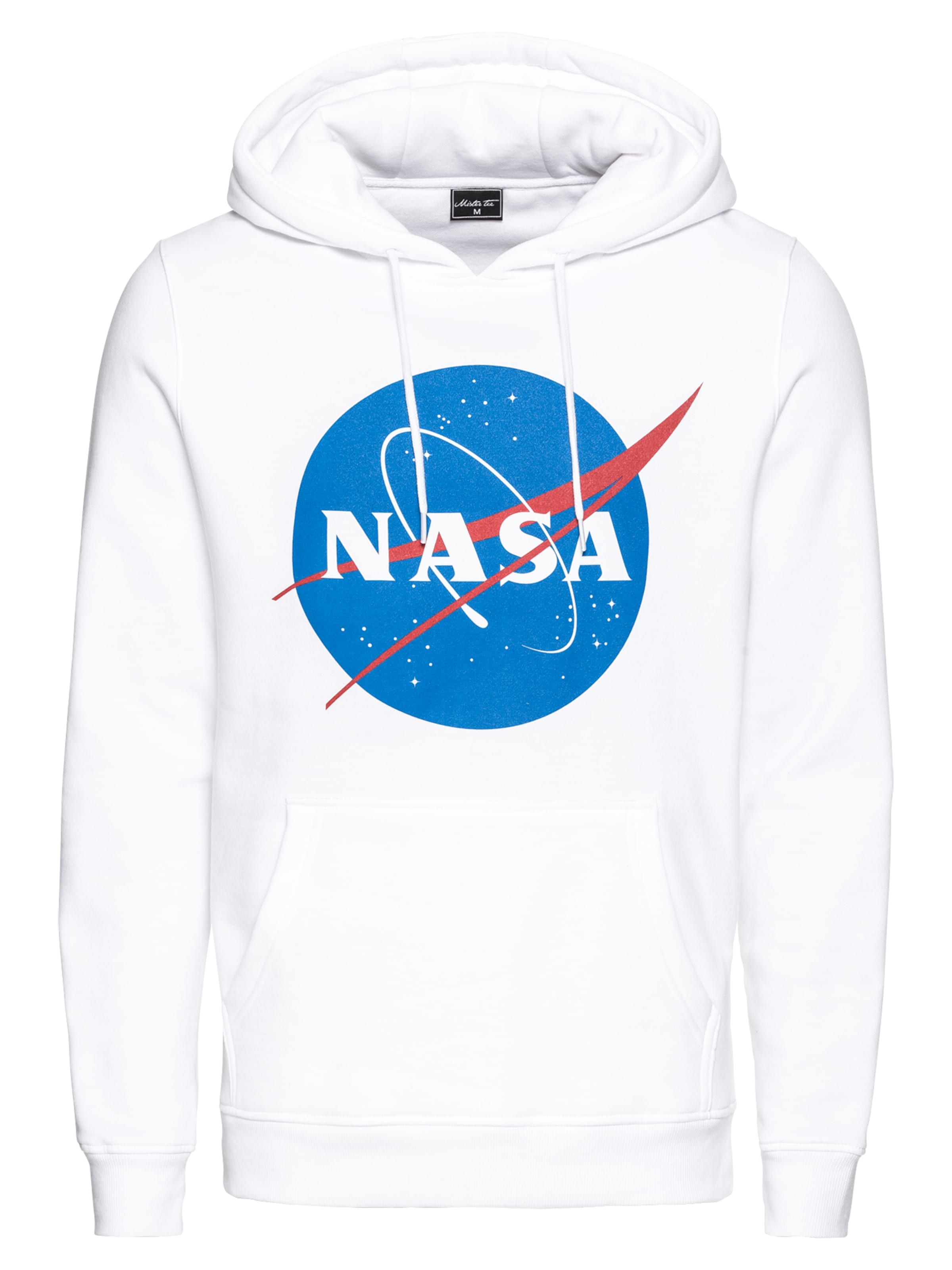 Mister Tee 'nasa' BlauRot Sweatshirt In Weiß rshQCxtdBo