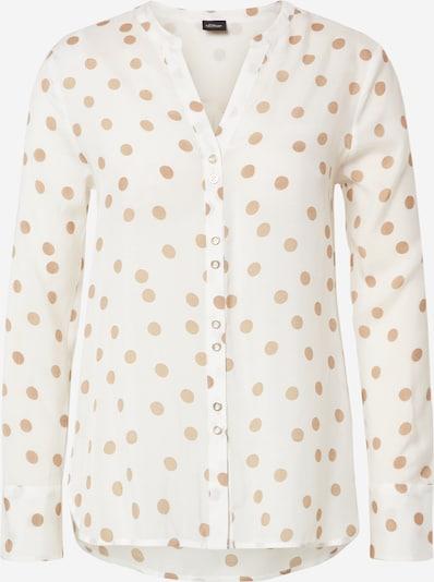 s.Oliver BLACK LABEL Bluse in beige / weiß, Produktansicht