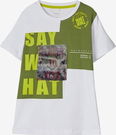 NAME IT T-Shirt in grün / weiß, Produktansicht