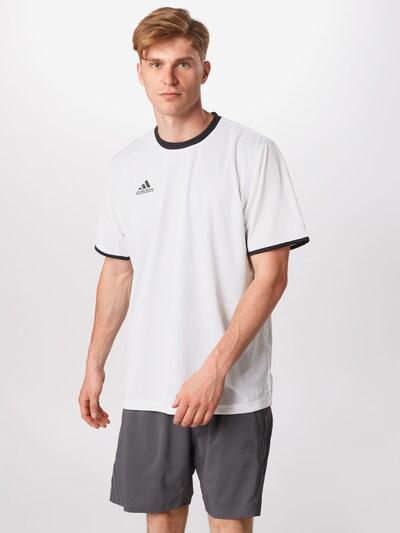ADIDAS PERFORMANCE T-Shirt in schwarz / weiß: Frontalansicht