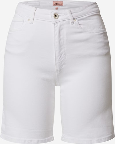 ONLY Shorts 'ONLPAOLA HW SHORTS BB AZG' in white denim, Produktansicht