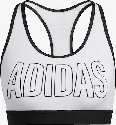 ADIDAS PERFORMANCE Sports bra in black / white, Item view