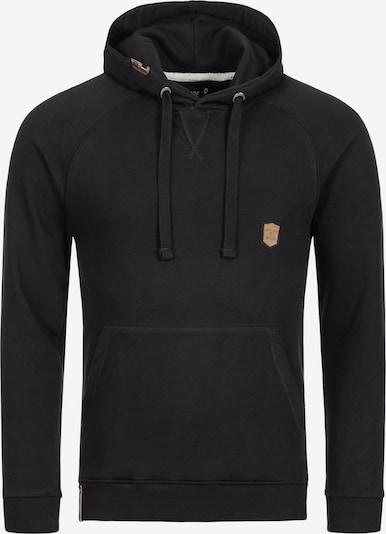 INDICODE JEANS Sweatshirt 'Litcham' in de kleur Zwart: Vooraanzicht