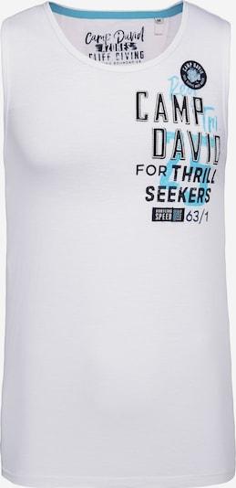 CAMP DAVID T-Krekls pieejami debeszils / melns / balts, Preces skats