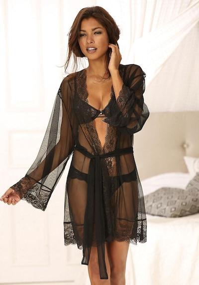 LASCANA Kimono in schwarz: Frontalansicht