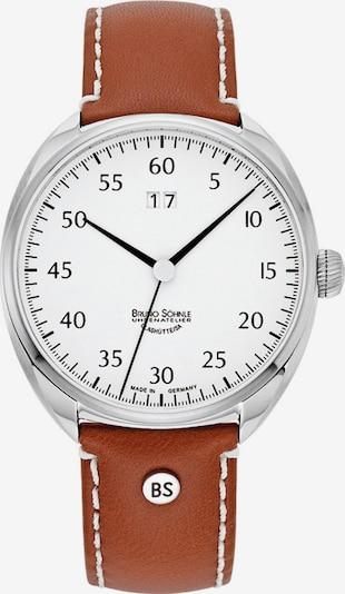 Bruno Söhnle Uhr in rostbraun / schwarz / silber / weiß, Produktansicht