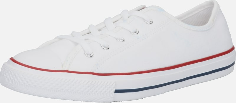 Sneaker low 'CHUCK TAYLOR ALL STAR DAINTY GS BASIC CANVAS - OX' CONVERSE pe alb, Vizualizare produs