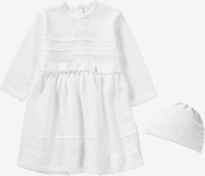 HOBEA-Germany Taufkleid +Mütze 'LENA' in weiß, Produktansicht