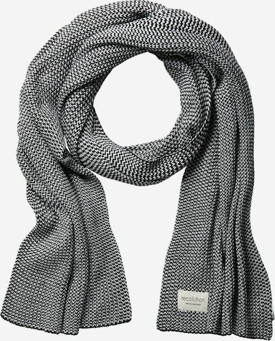 recolution Scarf 'Knit' in schwarz / weiß, Produktansicht