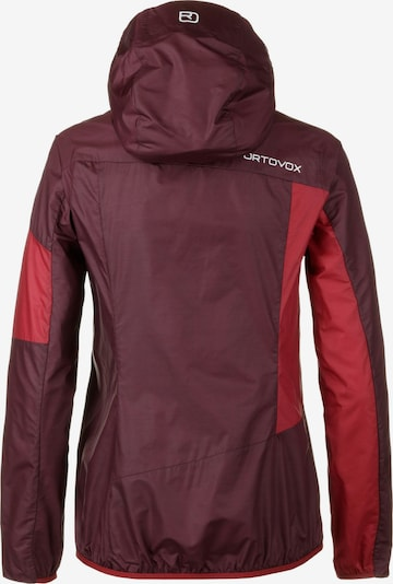 ORTOVOX Windbreaker in rot / blutrot / dunkelrot, Produktansicht