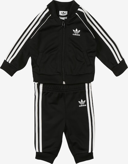 ADIDAS ORIGINALS Trainingspak 'SUPERSTAR SUIT' in de kleur Zwart / Wit, Productweergave