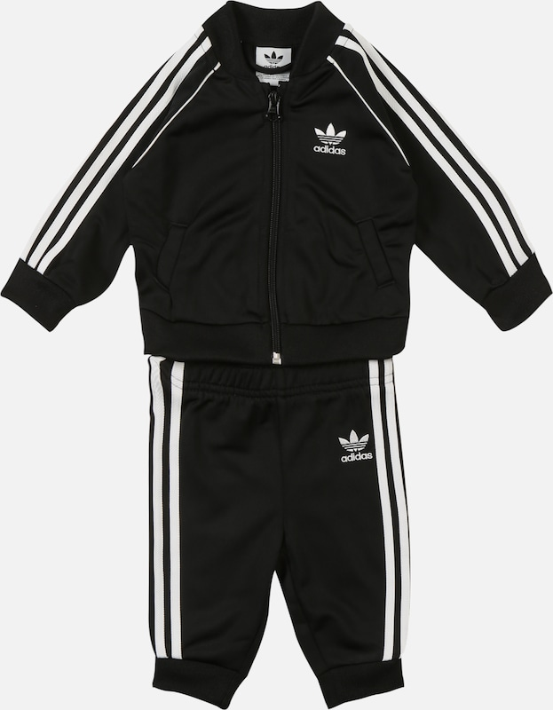 ADIDAS ORIGINALS Sweatanzug 'SUPERSTAR SUIT' in schwarz / weiß, Produktansicht