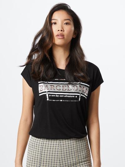 Tricou Sublevel pe negru / argintiu: Privire frontală