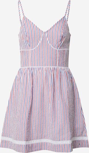 Tommy Jeans Letní šaty - modrá / růžová / bílá, Produkt
