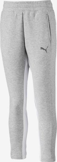 PUMA Sweatpants 'Evostripe' in graumeliert / weiß, Produktansicht