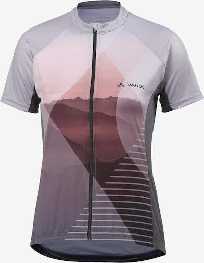 VAUDE 'Majura' Fahrradtrikot in hellgrau / dunkelgrau / pastellrot, Produktansicht