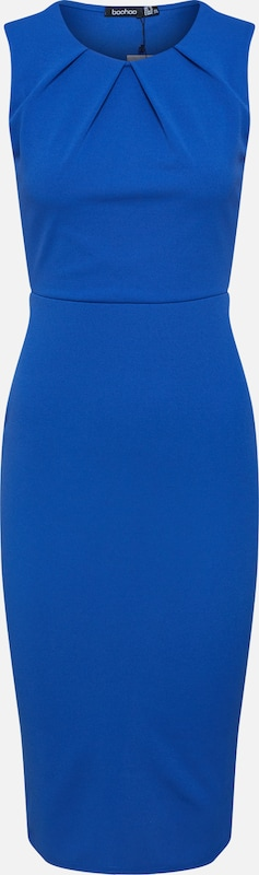 Boohoo Robe de cocktail 'Sleeveless Midi Dress' en bleu / saphir, Vue avec produit