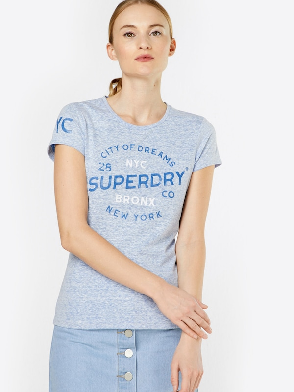 Superdry T-Shirt 'CITY OF DREAMS ENTRY'