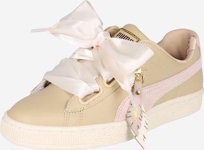 PUMA Sneaker 'Basket Heart Coach' in creme: Frontalansicht
