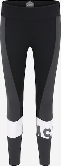 ASICS Sporthose in dunkelgrau / schwarz / weiß, Produktansicht