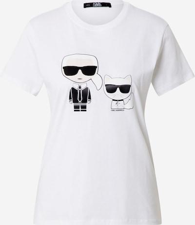 Karl Lagerfeld T-Shirt 'Ionik Karl & Choupette' in nude / schwarz / weiß, Produktansicht