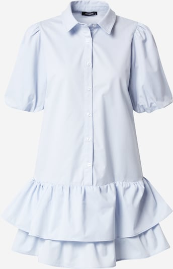 Trendyol Košeľové šaty - svetlomodrá: Pohľad spredu
