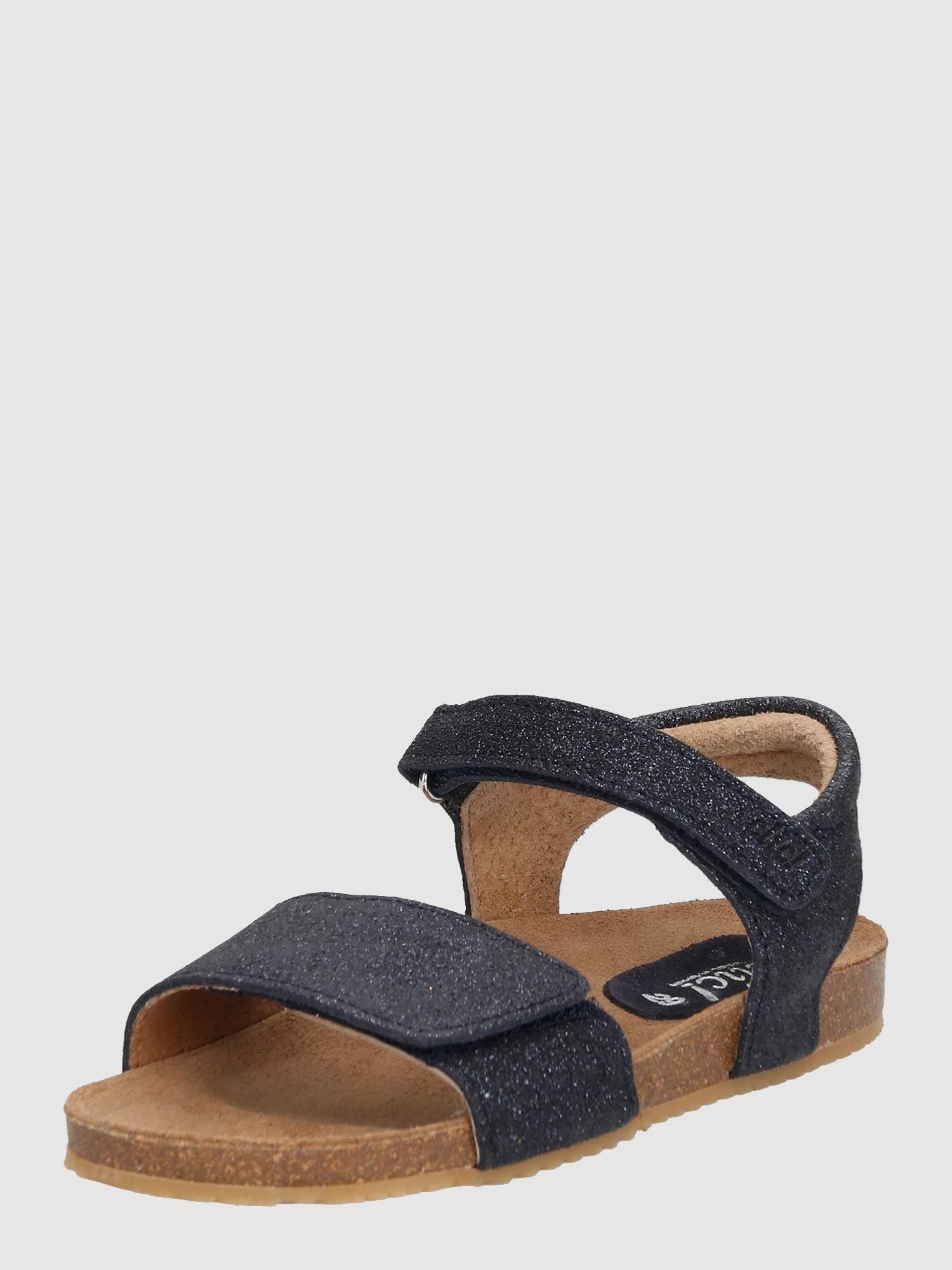 clic sandalen 39 17 39 mit glitzer effekt in blau about you. Black Bedroom Furniture Sets. Home Design Ideas